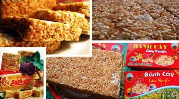 Bánh cáy Thái Bình, đặc sản truyền thống của vùng đất quê lúa.